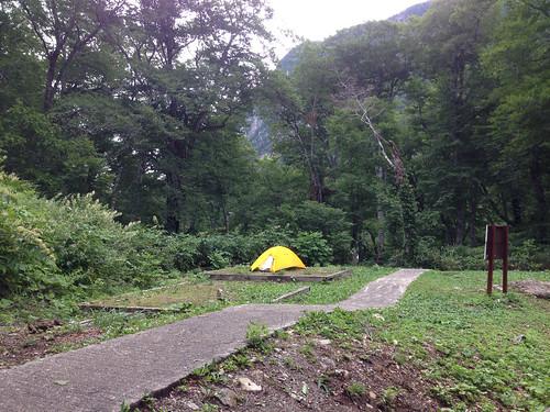 くろよんのテント場