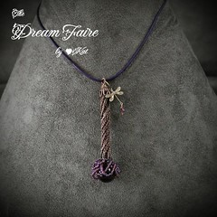 Purple Fairy Flower Necklace Front