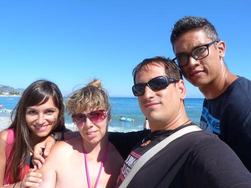 Los cuatro en la Costa Azul