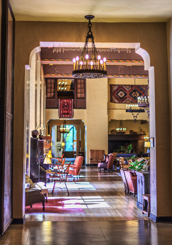 Peering into the Ahwahnee Great Lounge