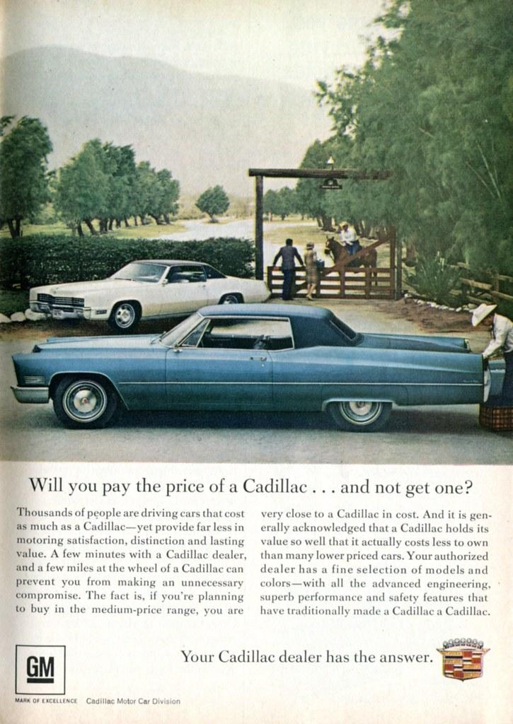 1967 Cadillac Advertisement Readers Digest June 1967