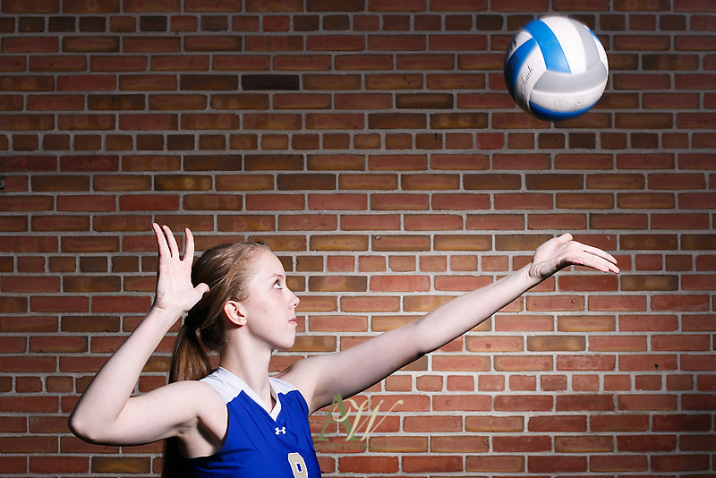 Rochester NY Senior portrait photographer Webster high school Andrew Welsh Photography trumpet volleyball vball music instrument