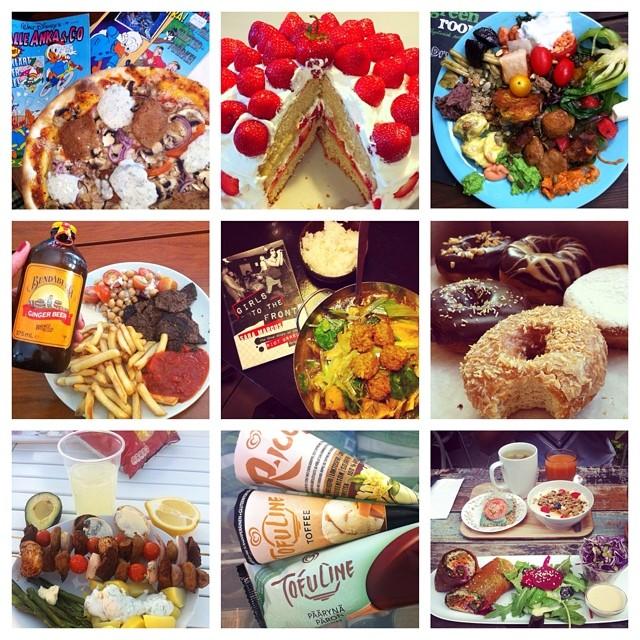 Vad äter veganer? Kort svar: allt! Bra tagg: #vadveganeräter ✌️