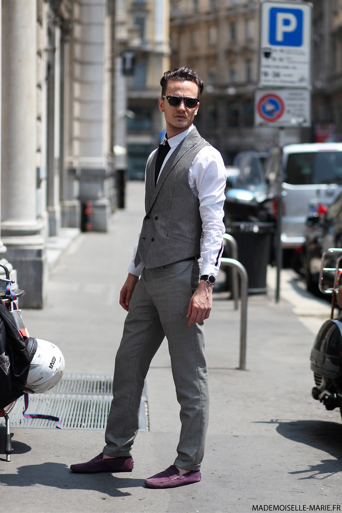 Fashion blogger Henry, at MFW menswear