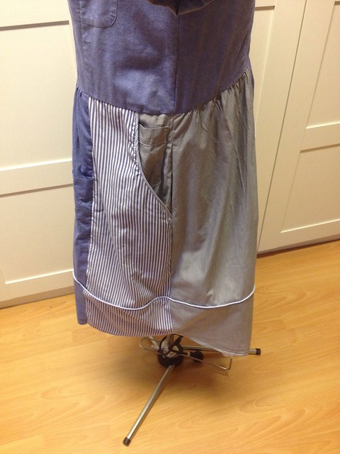 Shirt-shirtdress pocket and skirt (with bonus pocket)