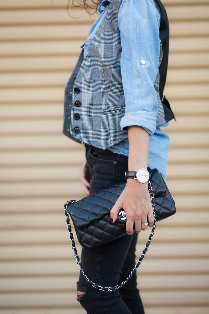 Chambray and Glen Plaid