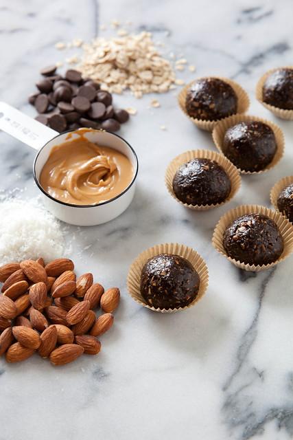 Dark Chocolate Peanut Butter Granola Bites | Annie's Eats | Flickr ...