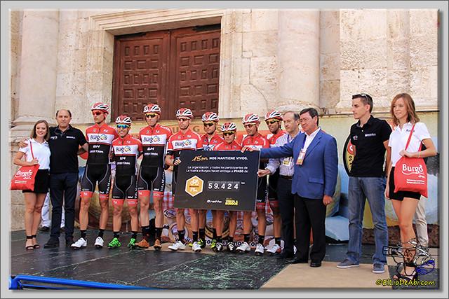 6 Vuelta a Burgos 2.014 Salida de Briviesca