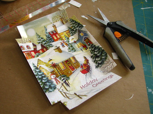 Christmas card shadow box