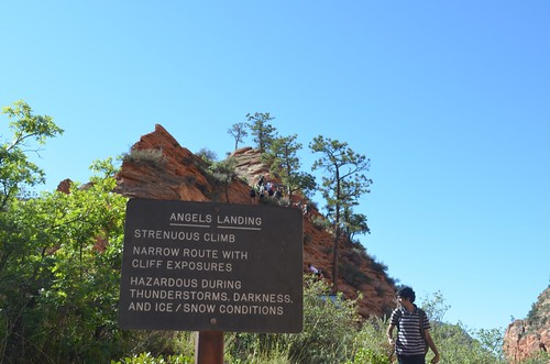 sign for Angel's Landing