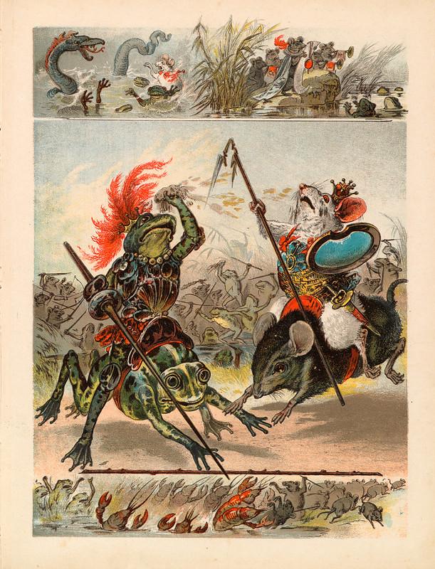 007- Guerra entre las ranas y los ratones-Aardige sprookjes- Nationale bibliotheek van Neederland