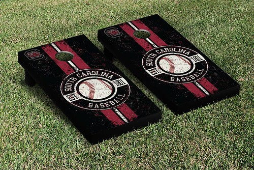 South Carolina Gamecocks Cornhole Game Set Baseball Vintage Version