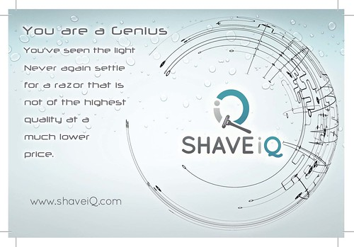 Shave IQ www.shaveiq.com Flyer Page 1