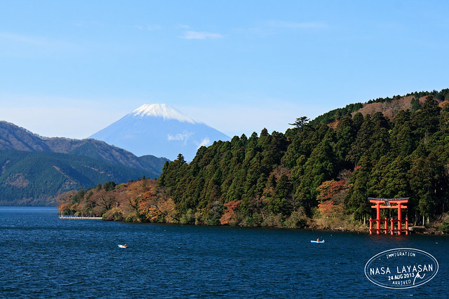 Fujisan and Hakone Shrine, Kanagawa, Japan