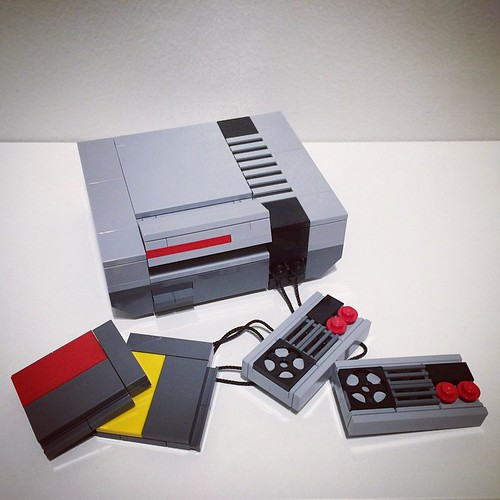 These models are a sheer joy to build. So authentic in every way, including the things you don't see at all  #lego #afol #myfirstgameconsole #spriteedition #retro #powerpig #perfection #nintendo #nes #custom