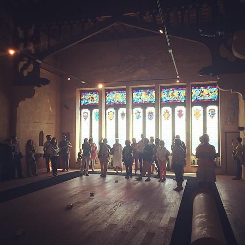 El Gran Saló del Cau Ferrat buit a la visita de les Jornades #Penedesfera #JEPSitges14 #5InstameetPenedès #Sitges #Garraf #Penedès #Cultura #Patrimoni