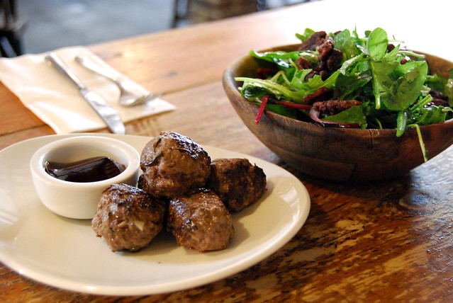 Venison & Rosemary Meatballs at Salt, Canterbury