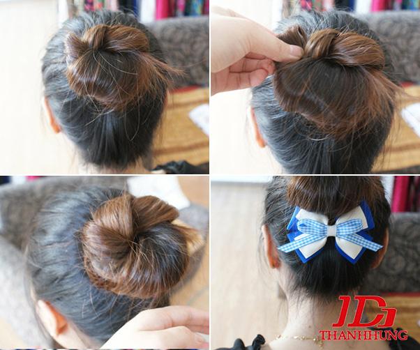 Cách búi tóc đẹp đơn giản! Kiểu búi tóc cao, phồng, xì tin 5