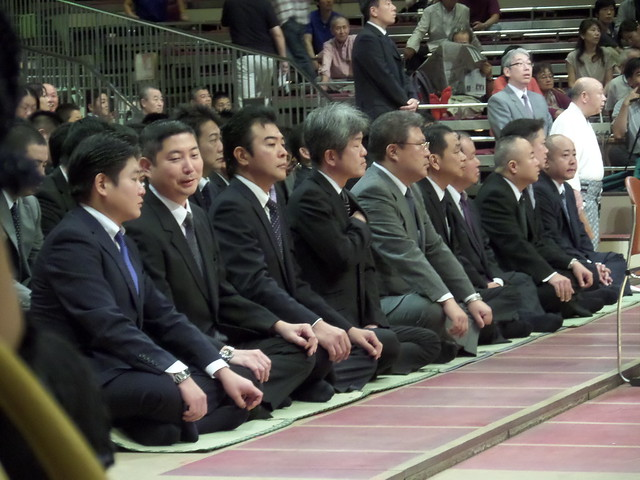 Officials at the Sumo Opening Ceremony