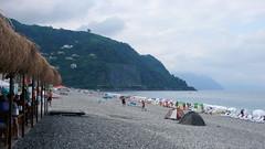 Plaża w Kvariati nad M. Czarnym, niedaleko granicy tureckiej.