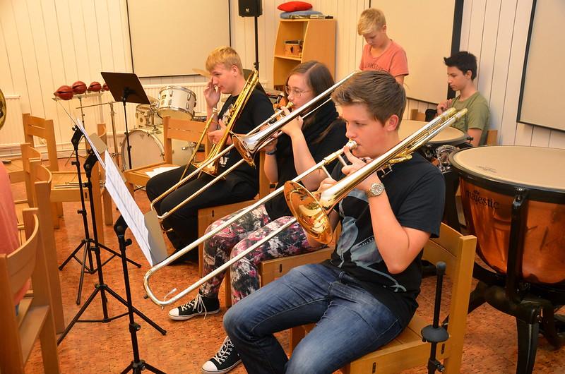 Trombonsektionen i grupp 2