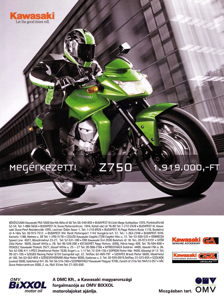 Kawasaki Z 750 (2007) Candy Lime Green