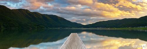 panorama lake clouds sunrise jetty olympus panoramic novoflex kizakiko olympus1454mmf28 leefilters olympuse30