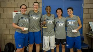 Women's winning team: the Lady Beacons!