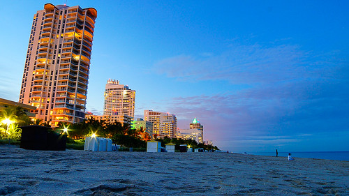 light usa building beach water night landscape sand florida miami shore