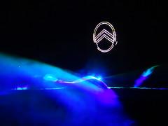 80 Jahre Citroen Traction Avant 2014 La Ferte-Vidame 645 Spectacle Laser et Pyrotechnique