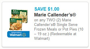 graphic about Marie Callender Coupons Printable identified as Marie Callenders Frozen Food items 0.88 - $1.00 at Meijer with