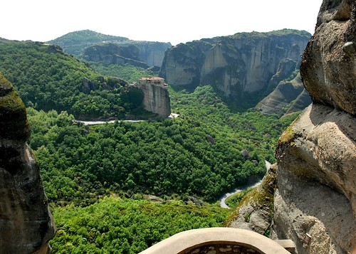 trees mountain building stone landscape nikon cliffs greece monastery d200 meteora varlaam