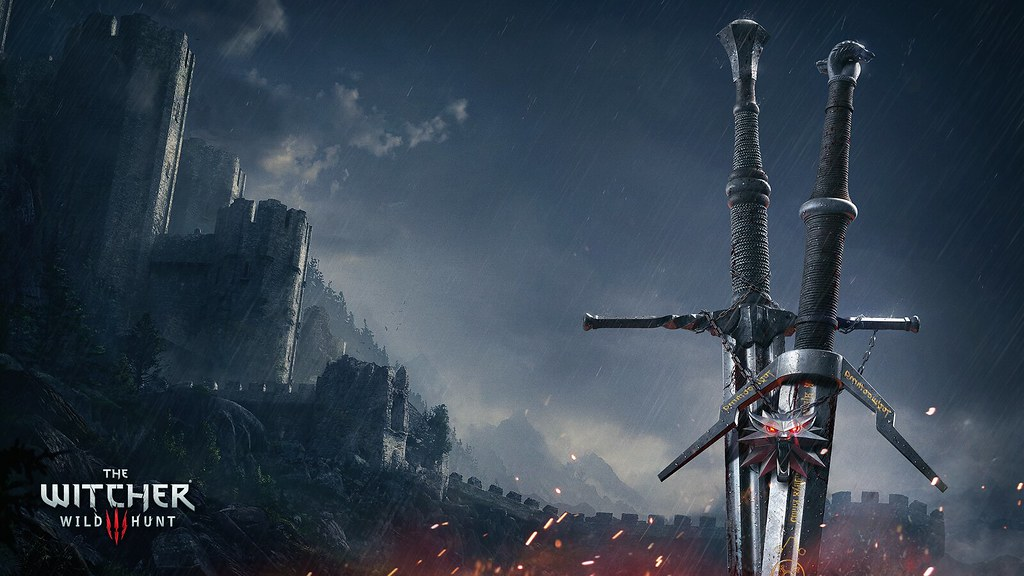 geralt steel and silver sword from the trailer general