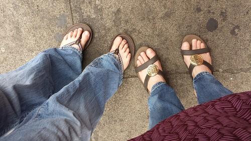 White girl feet