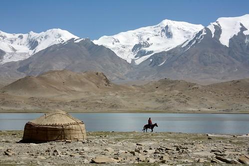 Kyrgyz Yurt Karakul Lake Muztagh Ata Xinjiang Uyghur Autonomous Region of China