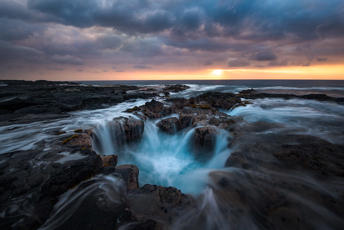 adventure beach bigisland blue clouds explore glow hawaii horizontal indurotripod landscape lavatube longexposure moody nature nikon ocean pacificocean photography rocks seascape sunset travel usa visit water waves