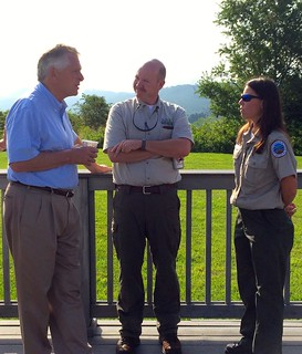 Gov. Auliffe visits Natural Tunnel
