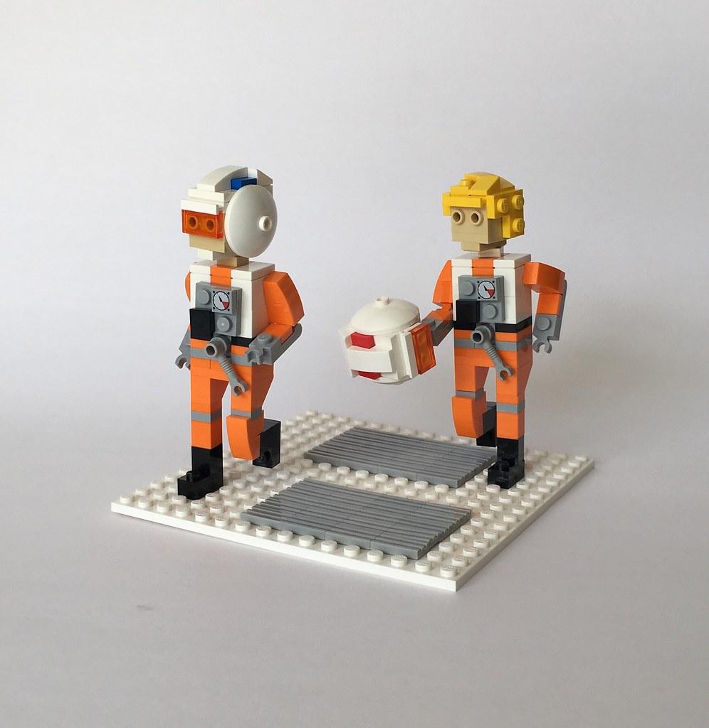 All pilots report to North Hangar 7 (custom built Lego model)