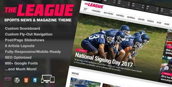 The League WordPress Theme free download