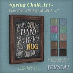 Spring Chalk Art - I Love You
