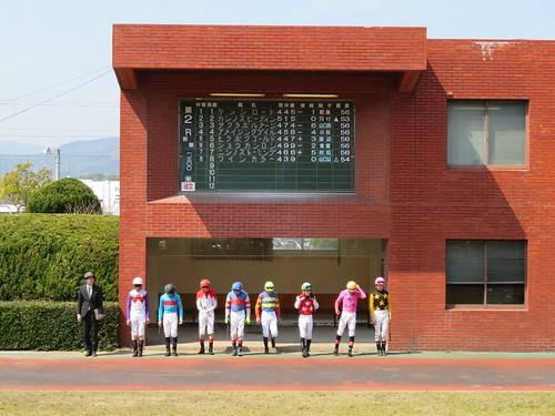 佐賀競馬場のパドック