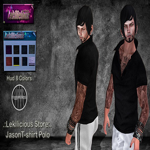 .:Lekilicious  Store:. Jason T-shirt   POLO  HUDcolors - SecondLifeHub.com