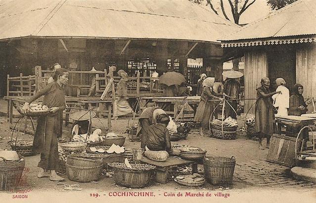 Cochinchine - Coin de marché de village - Một góc chợ làng