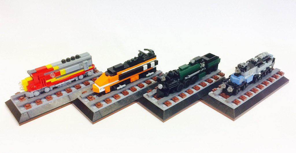 Mini locomotives (custom built Lego model)