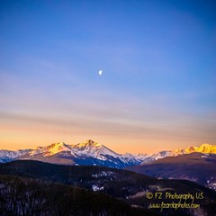 Sunrise and moon down over Mt. Holy Cross      #eastersunday #sunriseservice #eaglesnest #sunrise #vaildaily #gorerange #vailvillage #lionshead #vail #vailcolorado #colorado #coloradophotography #lovetheoutdoors #mountainlife #travelmyusa #goodtimes #trav