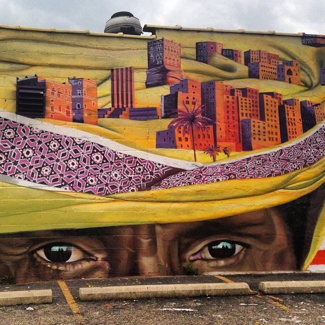 #love this #streetart in #hamtramack #detroit #graffiti close up #1