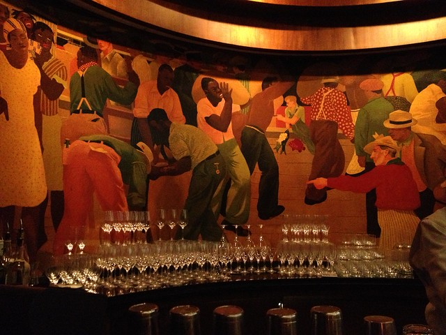 Paul Ninas Murals at Sazerac Bar, Roosevelt Hotel, New Orleans