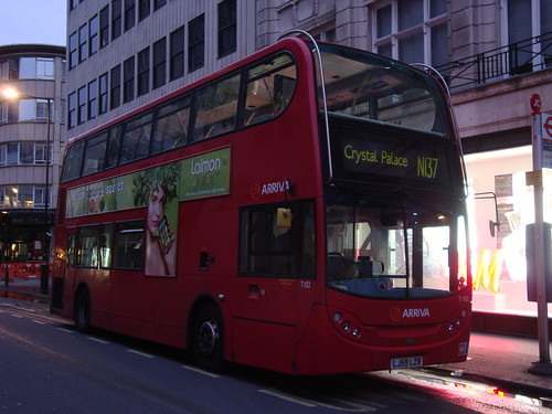 Arriva London T102 on Route N137, Oxford Circus