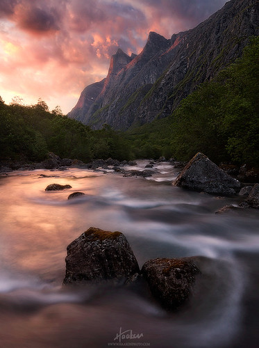 mountains norway river norge sunsets sunndal