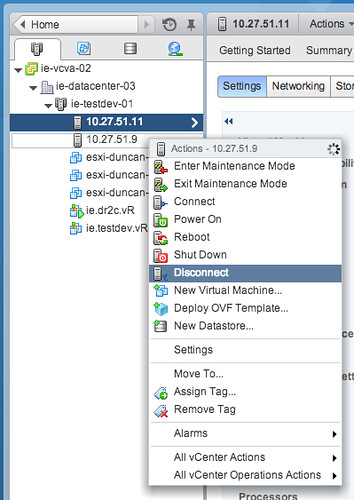 Disconnect a host from VSAN cluster doesn't change capacity